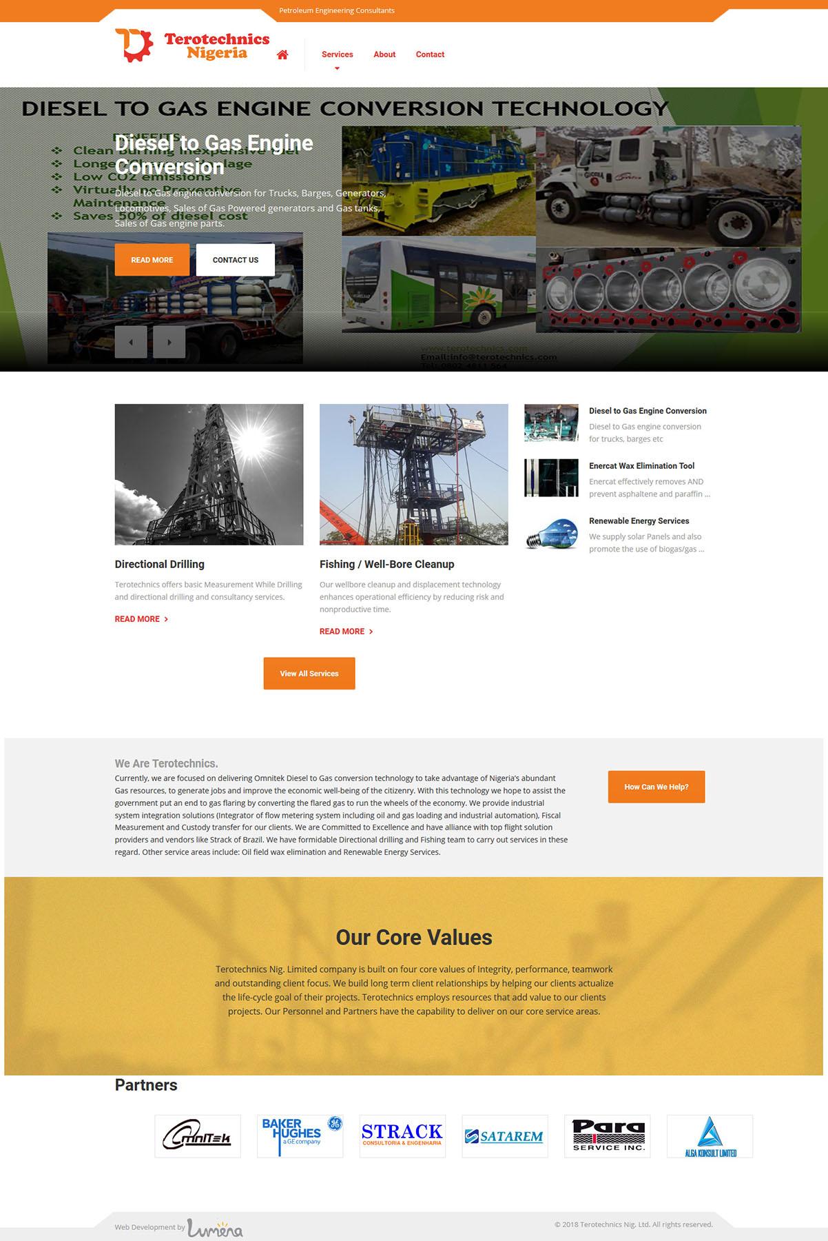 website design for Terotechnics