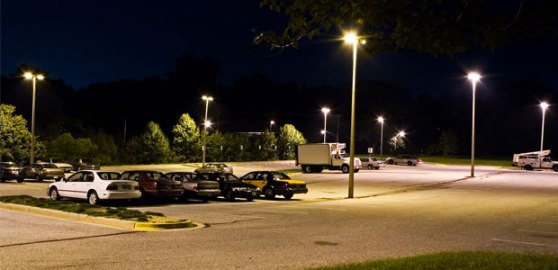 Parking garages can be safer with LED lighting.