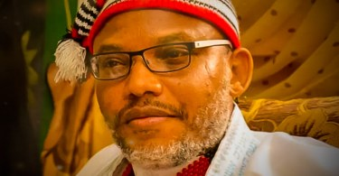 The leader of the Indigenous People of Biafra; Mazi Nnamdi Kanu