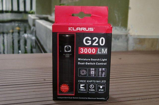 klarus g20 in a box
