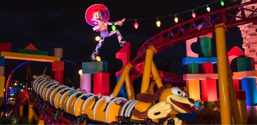 Jessie y Slinky en Toy Story Land en Walt Disney World