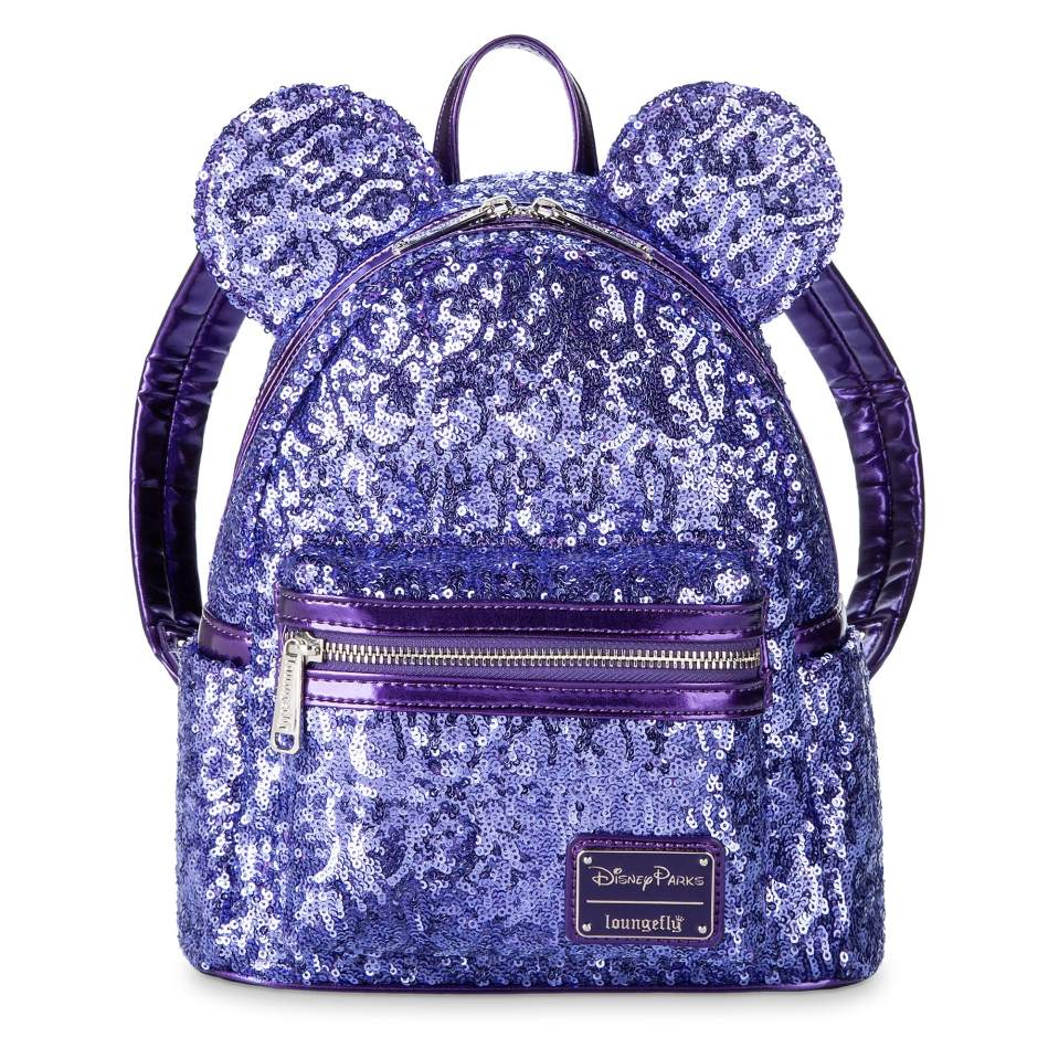 Product Image of Minnie Mouse Potion Purple Sequined Mini Backpack by Loungefly # 1