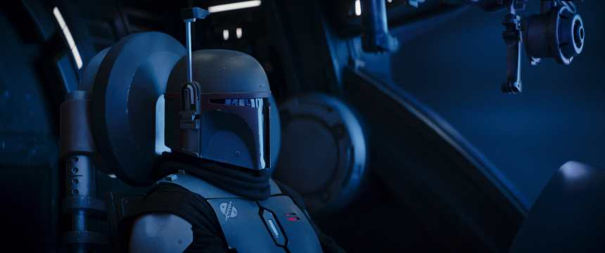 Temura Morrison is Boba Fett in Lucasfilm's THE MANDALORIAN, season two, exclusively on Disney+. © 2020 Lucasfilm Ltd. & ™. All Rights Reserved.