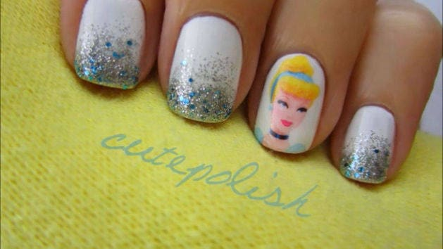 Thumbnail For Cinderella Nail Design Tutorial A Cutepolish Disney Exclusive