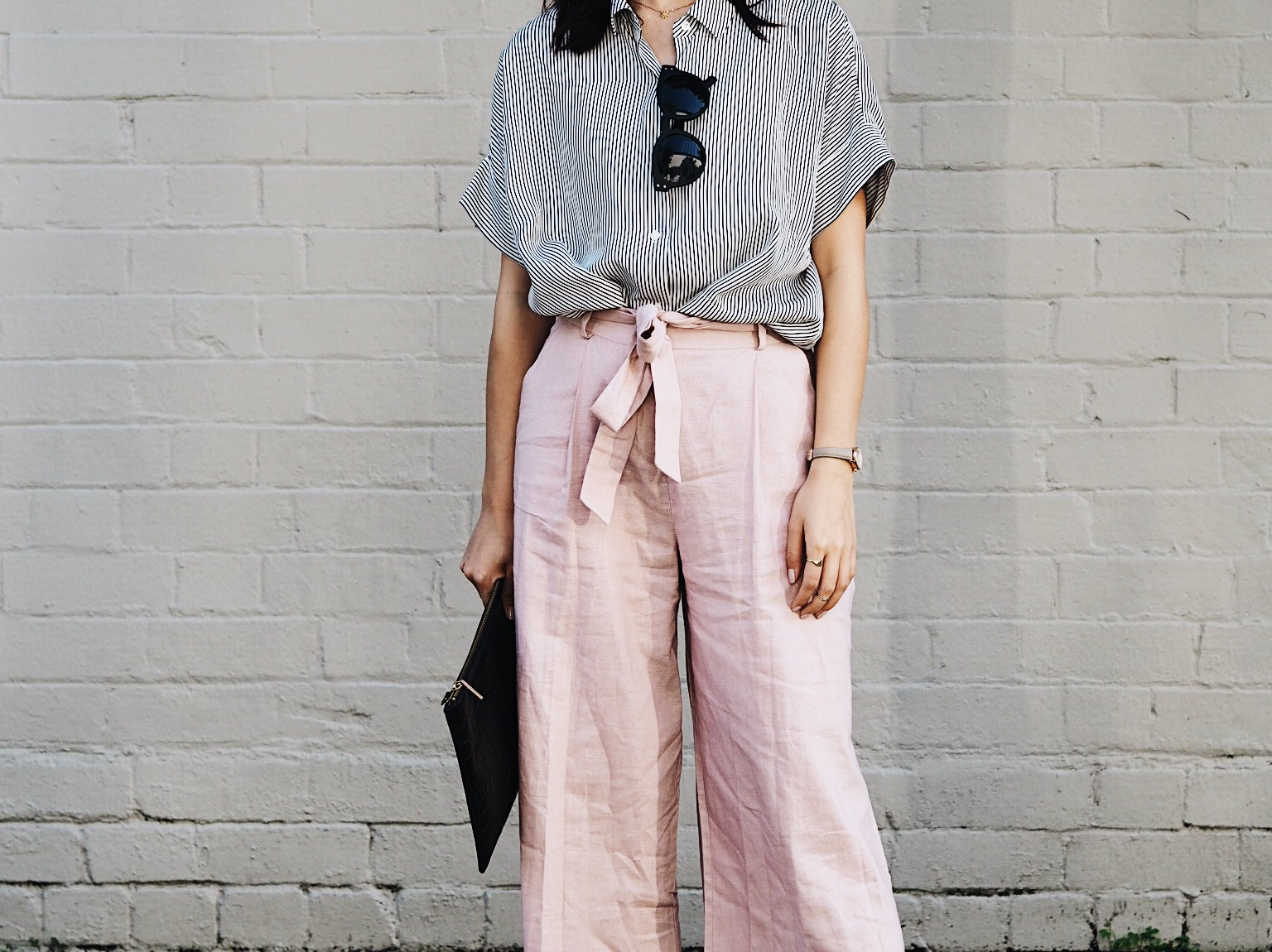 Outfit idea inspiration, ootf, asos, blush pink