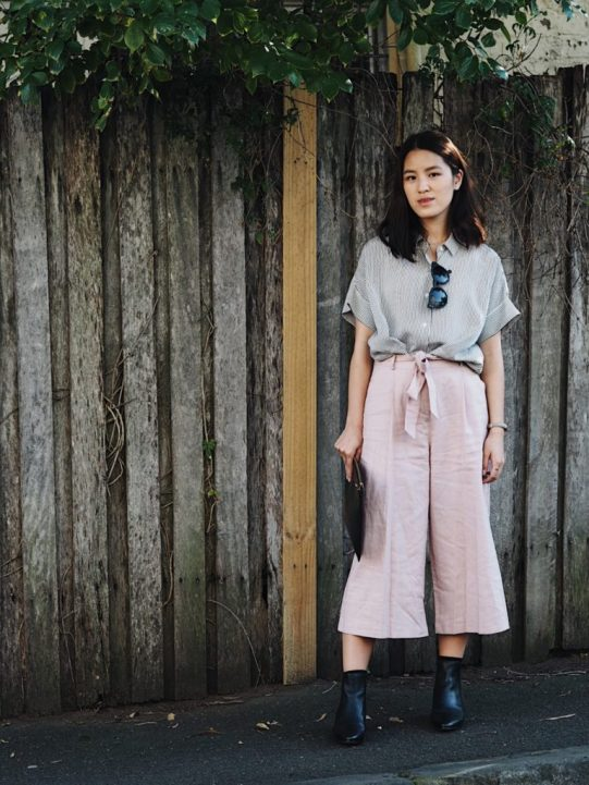 blush pink culottes trend style asos