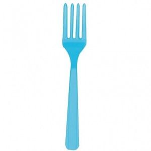 Lyseblå plastik gafler