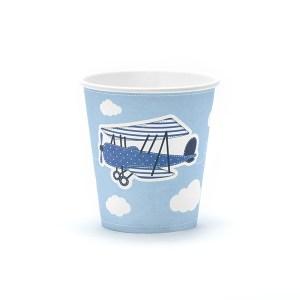 Papkrus med flyvemaskine