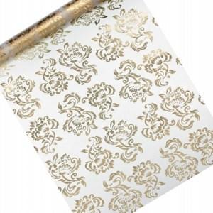 Organza med guldprint