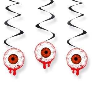 Blodige øjne dekoration