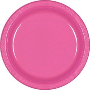 Plastik tallerkener pink