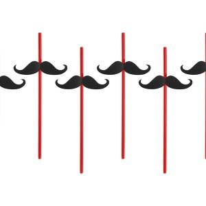 Sugerør med moustache