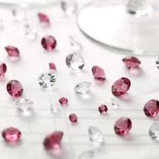 borddiamanter klare og bordeaux