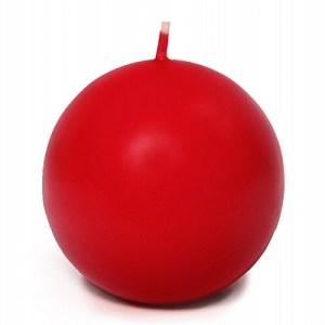 Rødt kuglelys