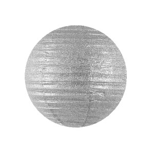 Rispapirlampe sølvfarvet