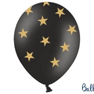 Sorte balloner med stjerner