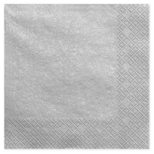 Sølvfarvede servietter