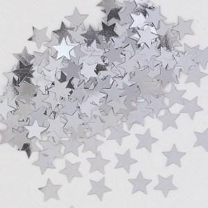 Sølv bordkonfetti