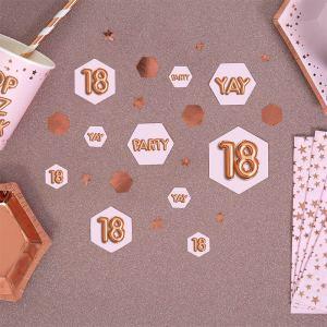 18 år bordkonfetti
