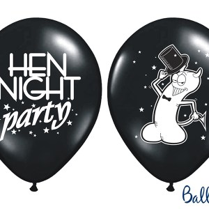 Hen Night black ballon