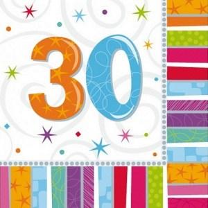 30 år servietter