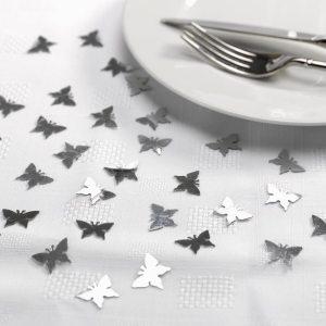 Sølvfarvede sommerfugle