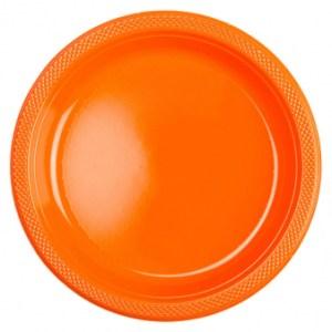 Orange tallerkener