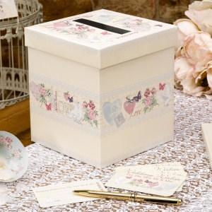 Postkasse til bryllupskort