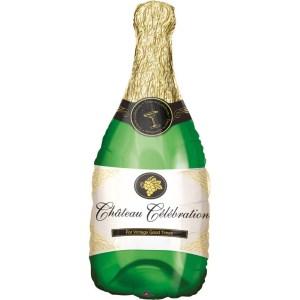 Champagneflaske folieballon