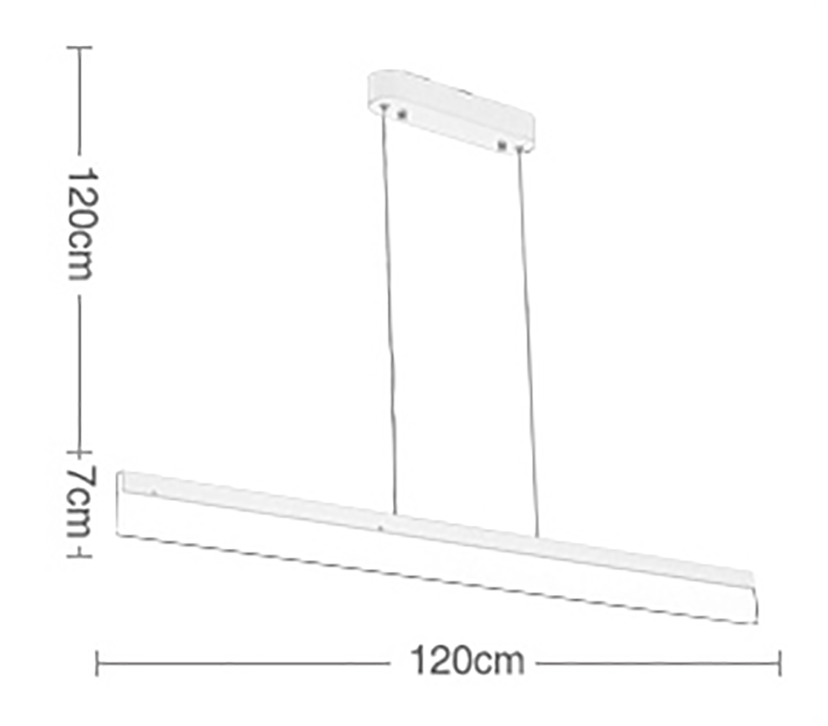Deluxe Linear Drop Light