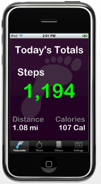iPhone pedometer Luminant software