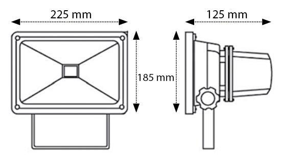 Proyector Portátil Recargable LED 30W IP65