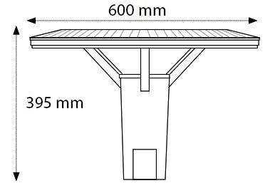 Luminaria Vial LED 40W IP65 cotas