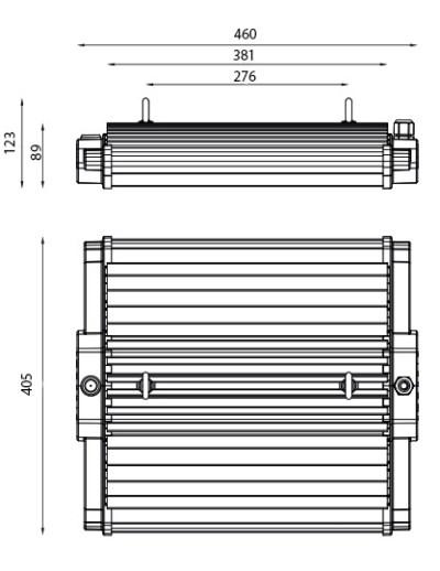Pantalla LED Industrial H-LUM 288 LED 95W cotas