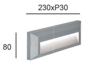 Aplique LED LEROS Plus 2 cotas