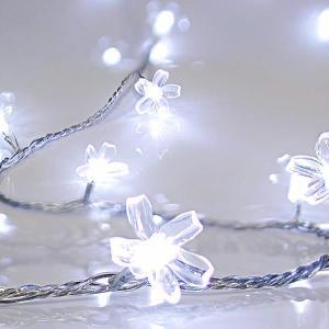 Cadena Decorativa 80 LED Blanco Flores