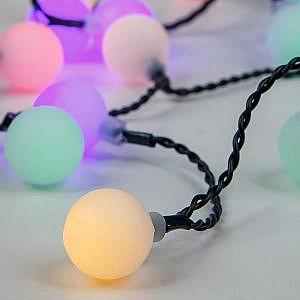 Cadena Decorativa 80 LED Bolas Blancas RGB