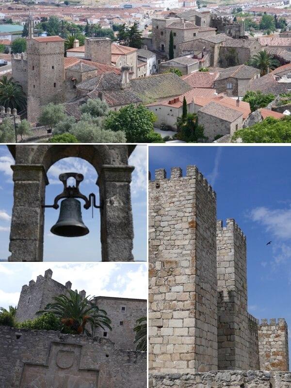 Murallas y vistas de casas, palacios y alcázares