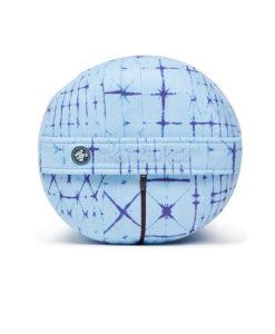 manduka round bolster star dye clear blue