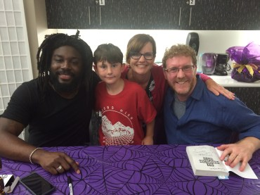 Jason Reynolds and Brendan Kiely at the East Baton Rouge Public Library