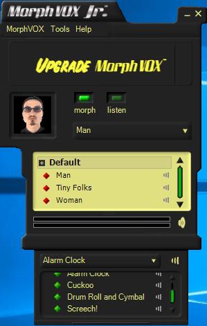 Интерфейс MorphVox Junior