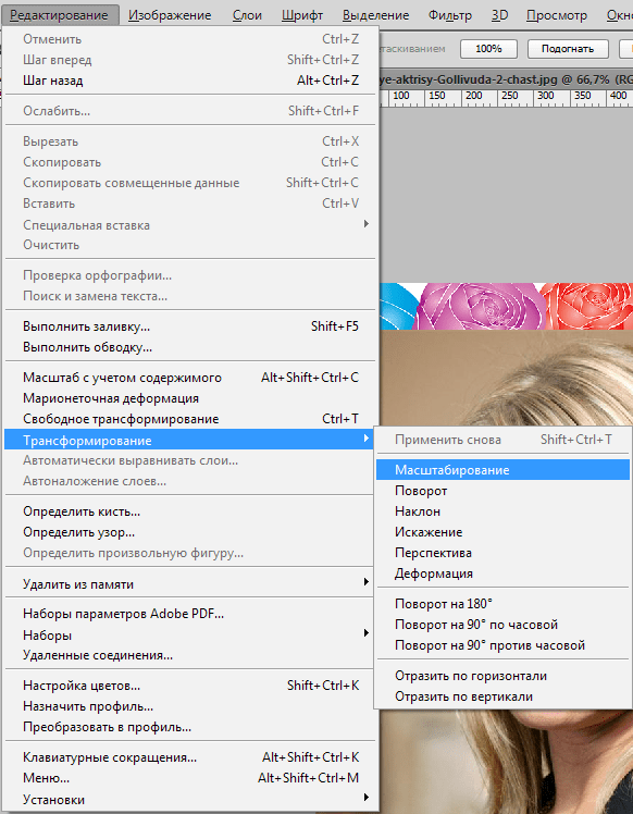 """Det här verktyget tilldelar ett objekt av kontur, varefter de väljer """"Selection"""" => """"Inversion"""" och sedan """"Ta bort"""". Bakgrunden kommer att tas bort. Dessa sätt är bra med en monotont bakgrund. Om bakgrunden i färg är ojämn, måste du använda läget """"Snabbmask""""."""