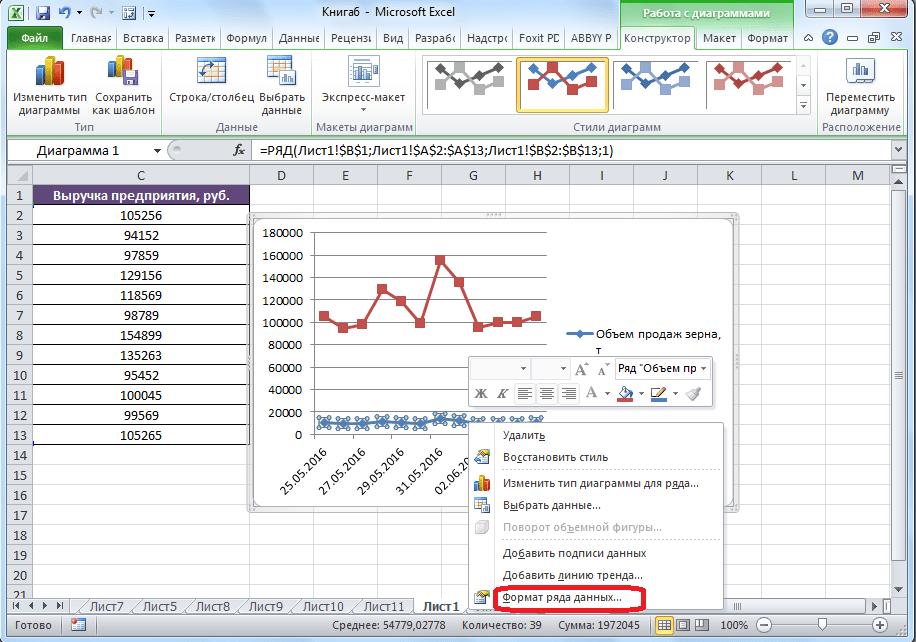 A Microsoft Excel számos adatainak formátumára való áttérés