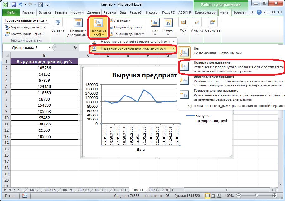 Tengelynév létrehozása a Microsoft Excelben
