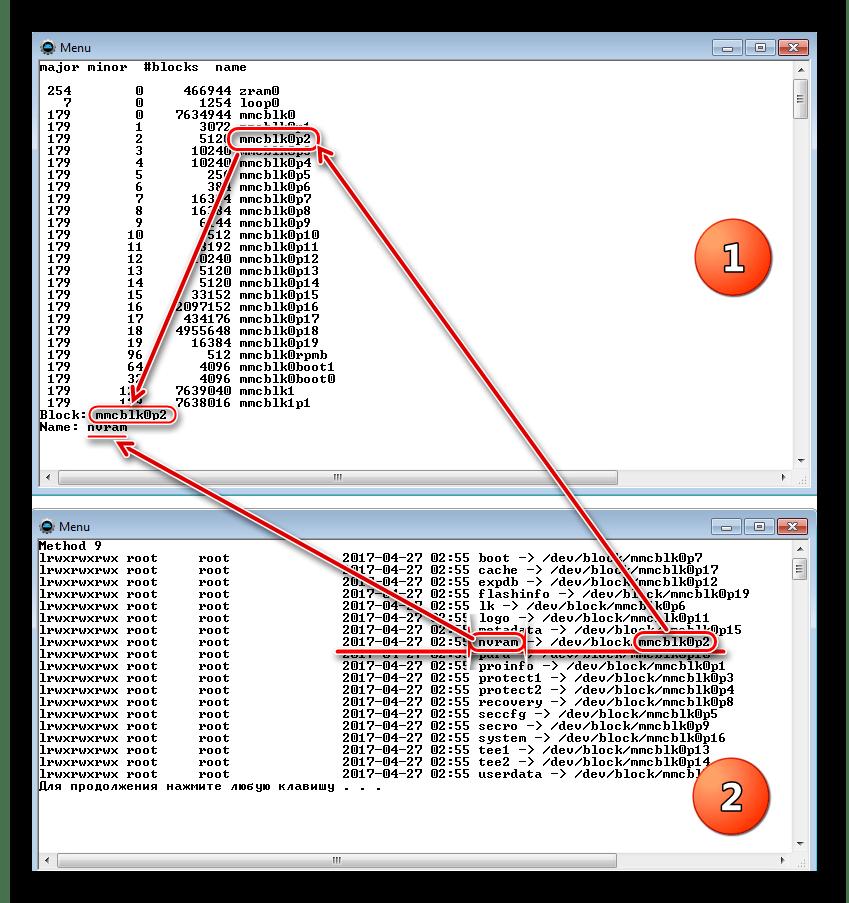 Adb chạy sao lưu tên khối nvram