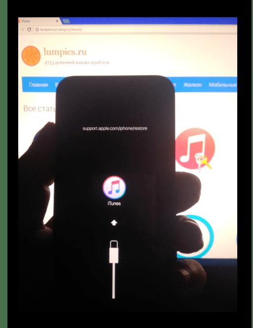 Apple iPhone-5s-Podklyuchen-V-Recovery-Modus