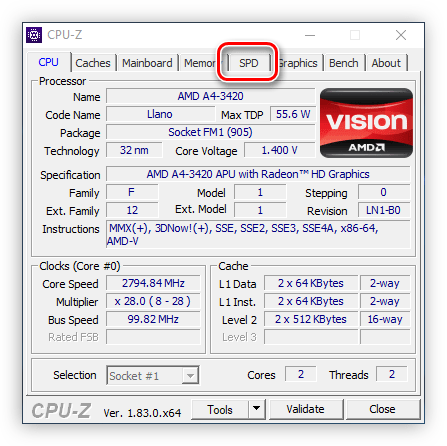 TAB SPD IN CPU Z