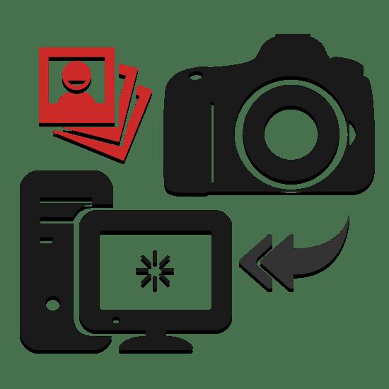 Как с фотоаппарата скинуть фотки на флешку