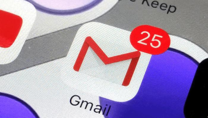 Mail iCloud-да gmail арқылы iPhone үшін кіру