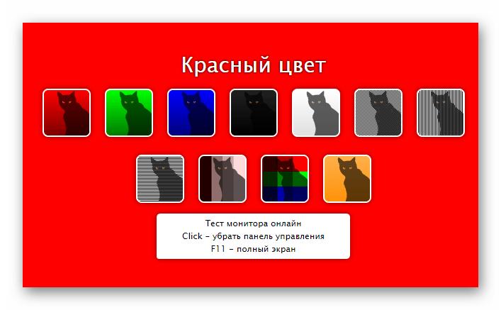 Pagina del servizio online CatLair per il controllo del monitor per pixel morti